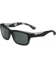 Bolle Jude matt svart argyle hvite polariserte TNS solbriller