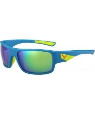 Cebe Whisper matt blå kalk 1500 grå flash speil grønne solbriller