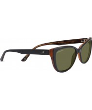 Serengeti Sophia skinnende svart polarisert 555nm solbriller
