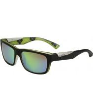 Bolle Jude matt svart kalk polarisert brune smaragd solbriller