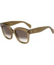 Celine Ladies cl 41805-s qp4 Z3 militære grønne solbriller