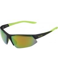 Bolle Breakaway matt svart kalk brun smaragd solbriller
