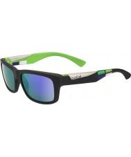 Bolle Jude matt svart blå-fiolett solbriller