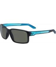 Cebe Dude matt svart krystall blå solbriller