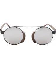Swole Panda Morpheus brun polarisert bambus solbriller