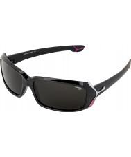 Cebe Lipstick (9 år pluss) skinnende svart 2000 grå solbriller