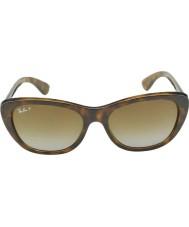 RayBan Rb4227 55 highstreet lys Havana 710-T5 polariserte solbriller