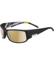 Bolle Kongen skinnende svart fjell polarisert ag-14 solbriller