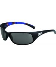 Bolle Recoil matt blå striper modulator polarisert grå solbriller