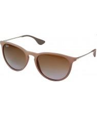 RayBan Rb4171 54 erika mørk gummi sand 600068 solbriller
