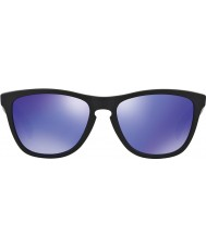 Oakley 24-298 FROGSKINS matt svart - violet iridium solbriller