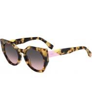 Fendi Fasetter ff 0151-s 00f en flekket Havana solbriller