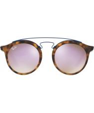 RayBan Rb4256 49 Gatsby matt havana 6266b0 lilla speil solbriller