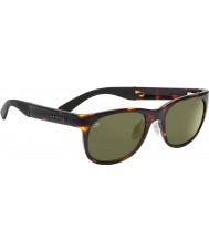 Serengeti Milano mørk skilpaddeskall polarisert 555nm solbriller