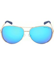 Michael Kors Mk5004 59 chelsea rose gull 100325 blå speilet solbriller
