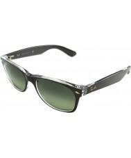 RayBan Rb2132-52 nye Wayfarer børstet våpenmetall på transparente 6143-71 solbriller