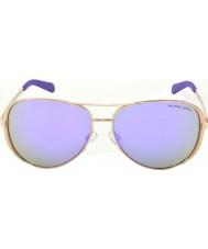 Michael Kors Mk5004 59 chelsea rose gull 10034v lilla speilet solbriller