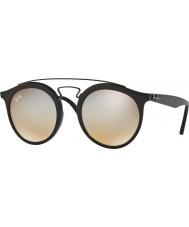 RayBan Rb4256 49 Gatsby mattsvarte 6253b8 grå speil solbriller