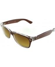 RayBan Rb2132 52 nye Wayfarer børstet brun på transparente 614585 solbriller